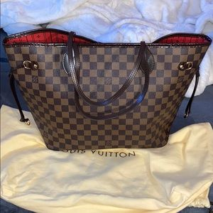 Authentic Louis Vuitton DAMIER MM tote bag